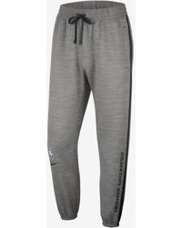 Nike Golden State Warriors Showtime Therma Flex Nba Pants - Gray