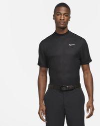 Nike Maglia da golf a manica corta con collo a lupetto Dri-FIT Tiger Woods - Nero