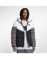 Nike Sportswear Windrunner Down Fill Hooded Puffer Jacket - White