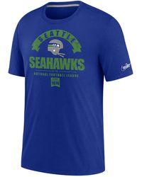 Nike Tee-shirt Tri-blend Historic (NFL Seahawks) pour - Bleu