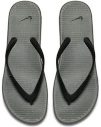 3d338082bdc7 Nike Solarsoft Flip Flops in Black for Men - Lyst