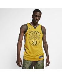 brand new 37e50 f5f0e Stephen Curry Earned City Edition Swingman (golden State Warriors) Nba  Connected Jersey - Yellow
