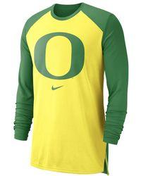 Nike College Breathe (oregon) Long-sleeve Top - Yellow