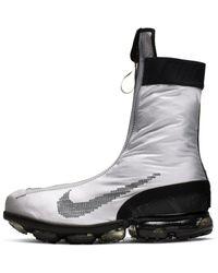 Nike Air Vapormax Flyknit Gaiter Ispa Shoe - Metallic