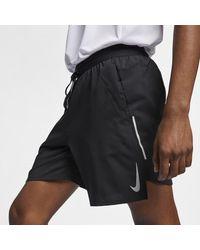 Nike Shorts da running 18 cm con slip foderati Flex Stride - Nero