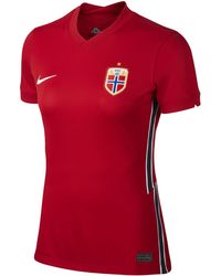 Nike Norway 2020 Stadium Home Soccer Jersey - Red