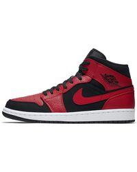 Nike Air Jordan 1 Mid Schuh - Rot