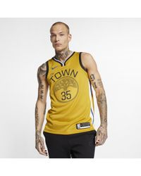 af0445f87 Nike - Kevin Durant Golden State Warriors Earned Edition Swingman Jersey -  Lyst