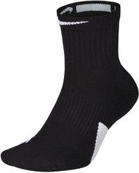 Nike Elite Mid Basketball Socks - Black