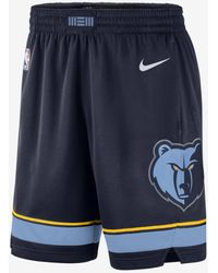 Nike Memphis Grizzlies Icon Edition Nba Swingman Shorts - Blue