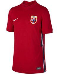 Nike Norway 2020 Stadium Home Older Kids' Football Shirt Red