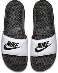 Nike Benassi Badeslipper - Weiß