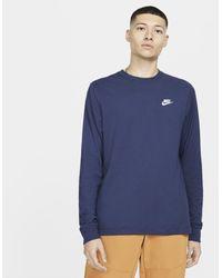 Nike T-shirt a manica lunga Sportswear - Blu