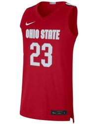 Nike Lebron James Ohio State Buckeyes Limited Basketball Player Jersey - Red