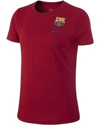 Nike Fc Barcelona T-shirt Red