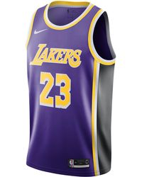 best website c6882 ce6bb Lebron James Statement Edition Swingman (los Angeles Lakers) Nba Connected  Jersey - Purple