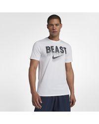 6b90ff04ffc0 Lyst - Nike Beast Hazard Men s T-shirt in White for Men