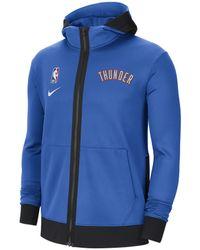 Nike Felpa con cappuccio Oklahoma City Thunder Showtime Therma Flex NBA - Blu