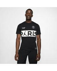 T shirt con scritta Paris Saint Germain