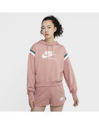 Nike Felpa pullover con cappuccio Sportswear Heritage - Rosa