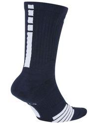 Nike Elite Crew Basketball Socks - Blue