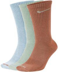 Nike Chaussettes de training mi-mollet Everyday Plus Lightweight pour (3 paires) - Bleu