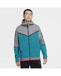 Nike – Kapuzenjacke mit Reißverschluss - Grau