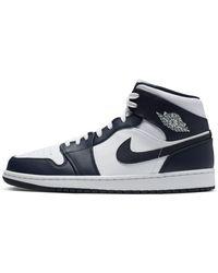 Nike Air 1 - Mittelhohe Sneaker in Marine und Weiß - Blau