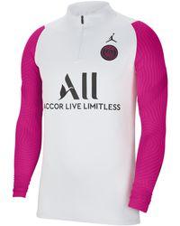 Nike Paris Saint-germain Strike Long-sleeve Football Drill Top - Grey