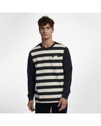 Hurley Striped Moto Long Sleeve Shirt - Black