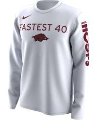 Nike College Bench Legend (arkansas) Long Sleeve T-shirt - White
