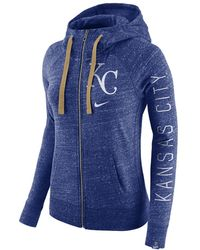 b6e9504fc600 Lyst - Nike Womens Kansas City Royals Fullzip Classic Hoodie in Blue