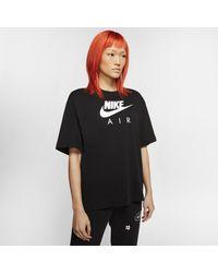 Nike Hautà manches courtes Air pour - Noir