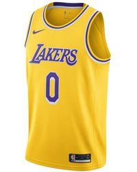 Nike Kyle Kuzma Lakers Icon Edition Nba Swingman Jersey - Yellow