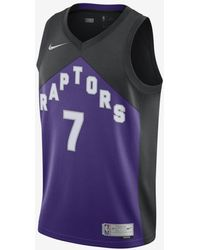 Nike Toronto Raptors Earned Edition Nba Swingman Jersey - Purple