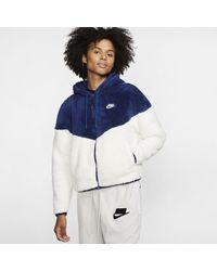 Nike Sportswear Windrunner Sherpa Jacket - Blue