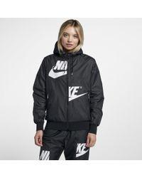 2bad684354 Lyst - Nike Sportswear Windrunner Full Zip Jacket in Blue