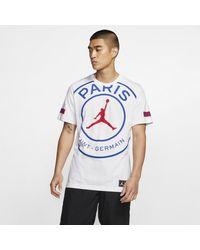 Nike T-shirt con logo Paris Saint-Germain - Bianco
