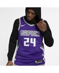 Nike Buddy Hield Kings Icon Edition Nba Swingman Jersey - Purple
