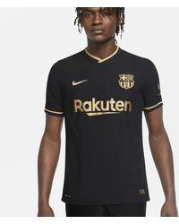 Nike F.c. Barcelona 2020/21 Vapor Match Away Football Shirt - Black