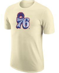 Nike Philadelphia 76ers Earned Edition Camiseta Logo Dri-FIT de la NBA Blanco