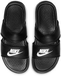 Nike Benassi Duo Ultra -Badeslipper - Schwarz