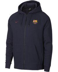 Nike - FC Barcelona Herren-Hoodie mit durchgehendem Reißverschluss - Lyst