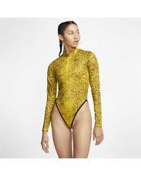 Nike Bodyà manches longues Sportswear pour - Jaune