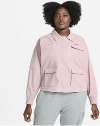 Nike Sportswear Swoosh Damenjacke (große Größe - Pink