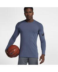 c41a8c95d1c Nike Breathe Elite Long-sleeve Basketball Top in Blue for Men - Lyst