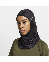 Nike Pro Printed Hijab Black