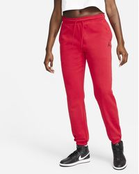 Nike Jordan Essentials Fleece Trousers Red