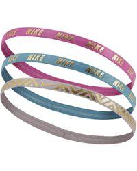 Nike - Metallic Hairbands (3 Pack) - Lyst