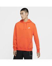 Nike - Felpa pullover con cappuccio Sportswear Club Fleece - Lyst